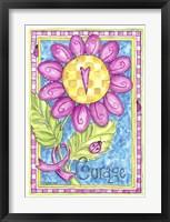 Framed Breast Cancer Awareness: Courage Flower