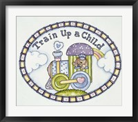 Framed Train Up A Child - Logo