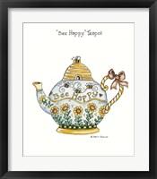 Framed Bee Happy Teapot