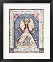 Framed Alleluia Angel Nativity
