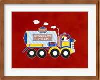 Framed Chocolate Milk Truck