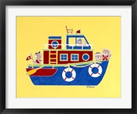 Framed Boating Bears