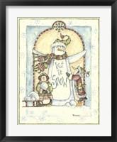 Framed Let It Snow Penguins