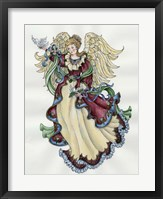 Framed Angel With Doves