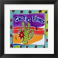 Framed Cactus Flower