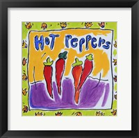 Framed Hot Peppers