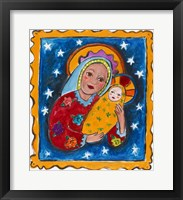 Framed Mexican Inspired Madonna and Child