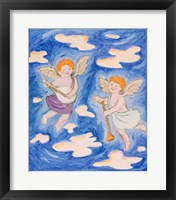 Framed Musical Cherubs