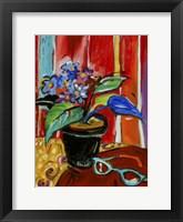 Framed African Violets