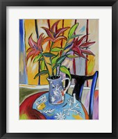 Framed Lilies On The Table