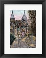 Framed Monmartre Rue de l' Abreuvoir from Placed Dalida