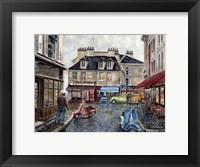 Framed Place Du Tertre From Rue Du Mont Cenis