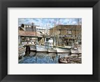 Framed San Francisco Fishrman's Wharf 1941