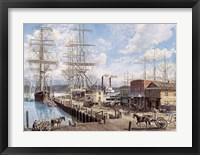 Framed Vallejo St. Wharf
