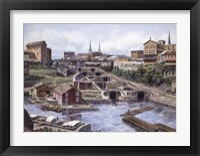 Framed Lockport NY, Lockport 5's, c.1865