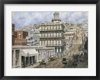 Framed San Francisco, Knob Hill 1854