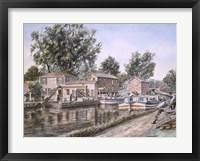Framed Weigh Locks On Penn Canal