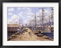 Framed Wellington Wharf, Well. N.2, c.1898