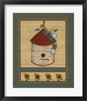 Framed Birch Birdhouse