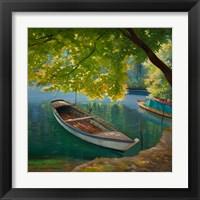 Framed Barca sul Fiume