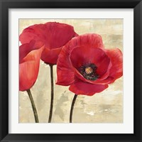 Framed Red Poppies (Detail)