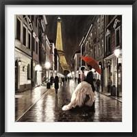 Framed Kissing in Paris (Detail)
