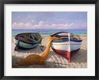Framed Barche sulla Spiaggia