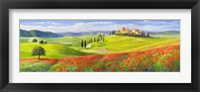 Framed Verso il Borgo in Toscana
