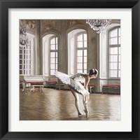Framed Rehearsing Ballerina