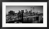 Framed Brooklyn Bridge, NYC BW Pano