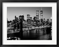Framed Brooklyn Bridge, NYC BW