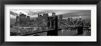 Framed Brooklyn Bridge and Skyline