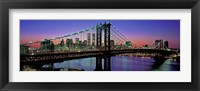 Framed Manhattan Bridge and Skyline