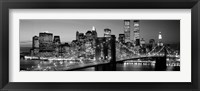 Framed Brooklyn Bridge to Manhattan