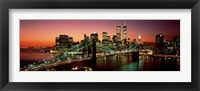 Framed Brooklyn Bridge, NYC Pano