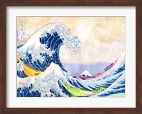 Framed Hokusai's Wave 2.0