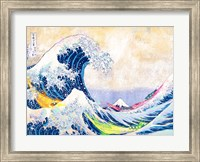 Framed Hokusai's Wave 2.0