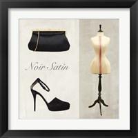 Framed Noir Satin
