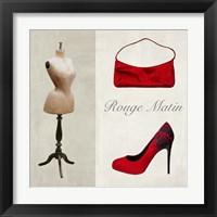 Framed Rouge Matin