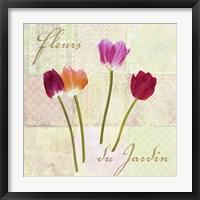 Framed Fleurs du Jardin