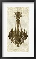 Framed Panneau Chandelier II