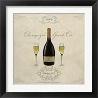 Framed Champagne Grand Cru