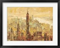 Framed Tramonto su Manhattan