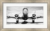 Framed Passenger Airplane on Runway