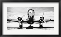 Framed Passenger Airplane on Runway