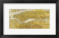 Framed Gilded Map of NYC
