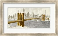 Framed Gilded Brooklyn Bridge