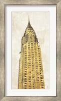 Framed Gilded Skyscraper I