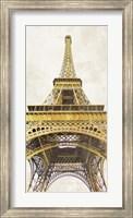 Framed Gilded Eiffel Tower