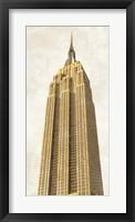 Gilded Skyscraper II Framed Print